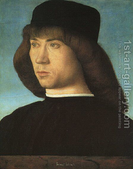 Portrait of a Young Man c. 1500 2 by Giovanni Bellini - Reproduction Oil Painting