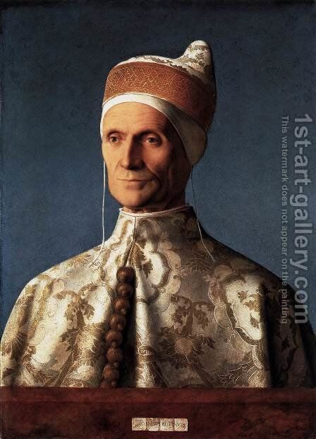 Portrait of Doge Leonardo Loredan 1501 by Giovanni Bellini - Reproduction Oil Painting
