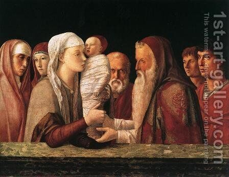 Presentation at the Temple 1460-64 by Giovanni Bellini - Reproduction Oil Painting