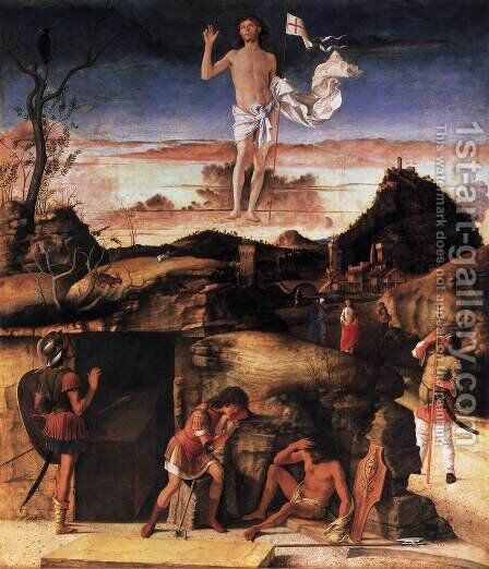 Resurrection of Christ 1475-79 by Giovanni Bellini - Reproduction Oil Painting