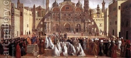 Sermon of St Mark in Alexandria 1504-07 by Giovanni Bellini - Reproduction Oil Painting