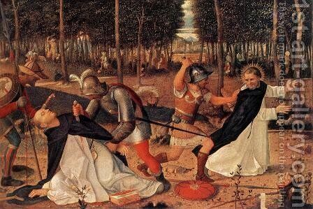 The Murder of St Peter the Martyr 1509 by Giovanni Bellini - Reproduction Oil Painting