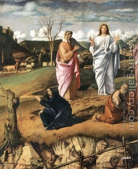 Transfiguration of Christ (detail 1) c. 1487 by Giovanni Bellini - Reproduction Oil Painting