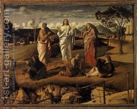 Transfiguration of Christ c. 1487 by Giovanni Bellini - Reproduction Oil Painting