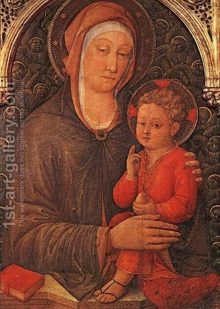 Madonna and Child Blessing c. 1455 by Jacopo Bellini - Reproduction Oil Painting