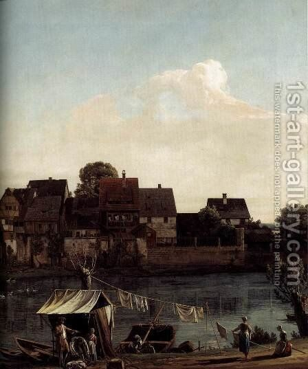 Pirna Seen from the Harbour Town (detail) 1753-55 by Bernardo Bellotto (Canaletto) - Reproduction Oil Painting