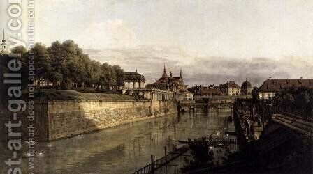 The Moat of the Zwinger in Dresden 1749-53 by Bernardo Bellotto (Canaletto) - Reproduction Oil Painting
