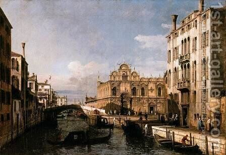 The Scuola of San Marco 1738-40 by Bernardo Bellotto (Canaletto) - Reproduction Oil Painting