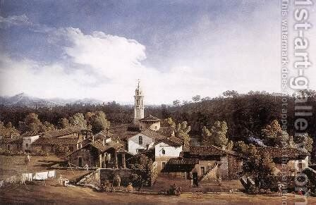 View of Gazzada near Varese 1744 by Bernardo Bellotto (Canaletto) - Reproduction Oil Painting