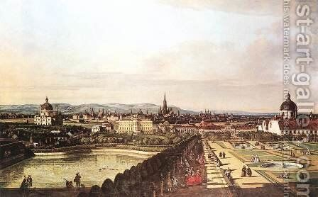 View of Vienna from the Belvedere 1759-60 by Bernardo Bellotto (Canaletto) - Reproduction Oil Painting