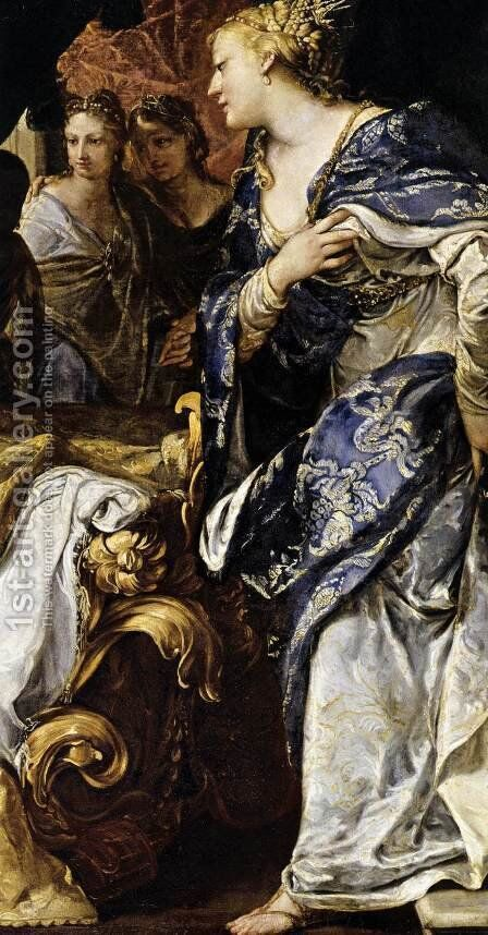 Antiochus and Stratonice (detail) c. 1700 by Antonio Bellucci - Reproduction Oil Painting