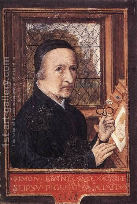 Self-Portrait 1550s by Simon Bening - Reproduction Oil Painting