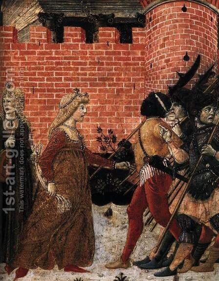 The Meeting of Jephthah and his Daughter (detail) c. 1470 by Benvenuto Di Giovanni Guasta - Reproduction Oil Painting