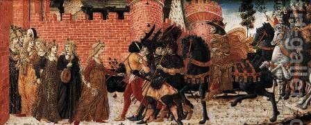 The Meeting of Jephthah and his Daughter c. 1470 by Benvenuto Di Giovanni Guasta - Reproduction Oil Painting