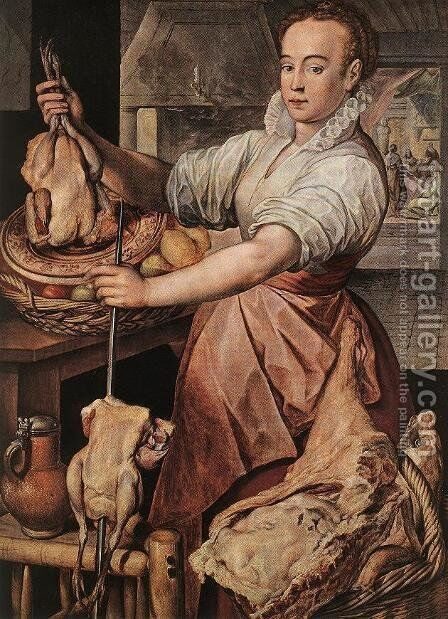 The Cook 1574 by Joachim Beuckelaer - Reproduction Oil Painting