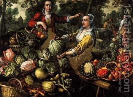 The Four Elements: Earth 1569 by Joachim Beuckelaer - Reproduction Oil Painting