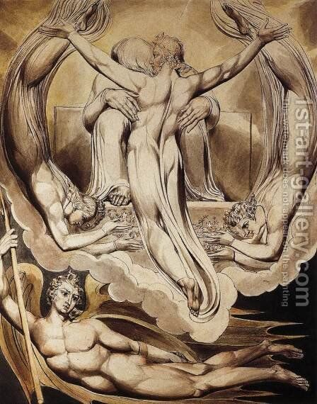 Christ as the Redeemer of Man 1808 by William Blake - Reproduction Oil Painting