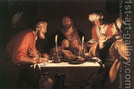 The Emmaus Disciples 1622 by Abraham Bloemaert - Reproduction Oil Painting