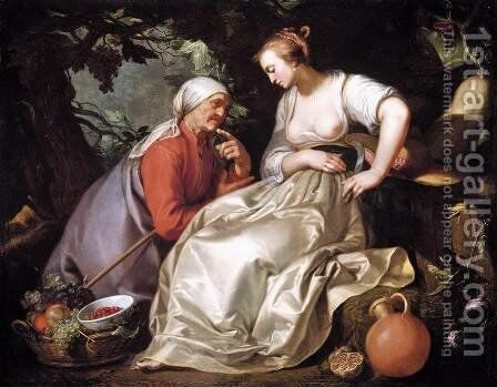 Vertumnus and Pomona 1620 by Abraham Bloemaert - Reproduction Oil Painting