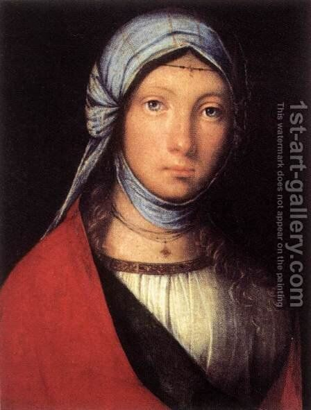 Gypsy Girl c. 1505 by Boccaccio Boccaccino - Reproduction Oil Painting
