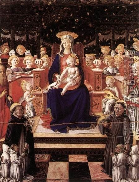 Virgin and Child with Saints 1447 by Giovanni Boccati - Reproduction Oil Painting