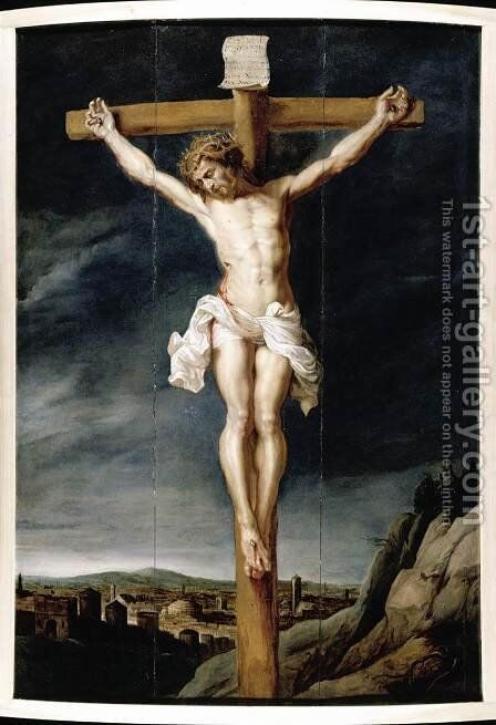 Christ on the Cross c. 1640 by Jan van Boeckhorst - Reproduction Oil Painting