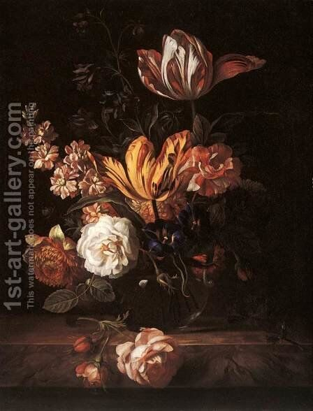 Flower Still-life by Jakab Bogdany - Reproduction Oil Painting