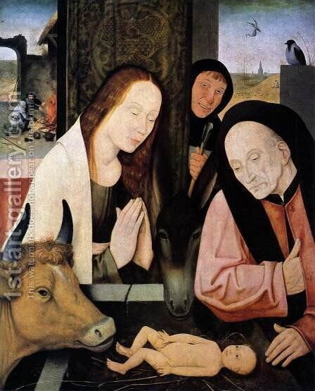 Adoration of the Child by Hieronymous Bosch - Reproduction Oil Painting