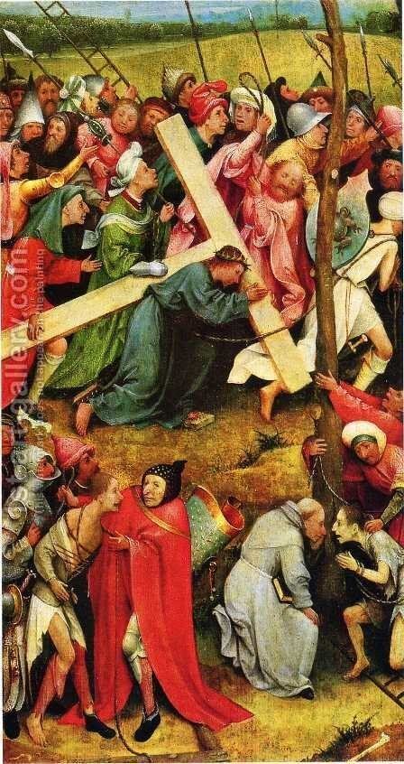 Christ Carrying the Cross 1480s by Hieronymous Bosch - Reproduction Oil Painting