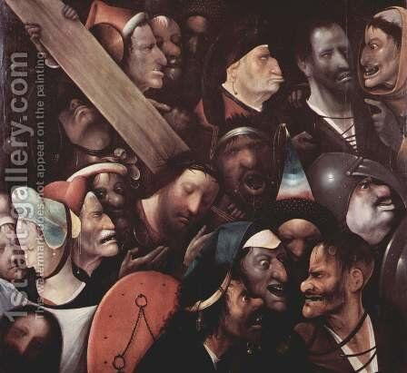 Christ Carrying the Cross 1515-16 by Hieronymous Bosch - Reproduction Oil Painting