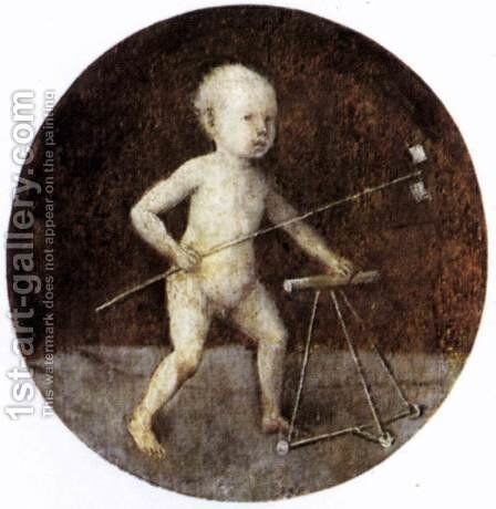 Christ Child with a Walking Frame 1480s by Hieronymous Bosch - Reproduction Oil Painting