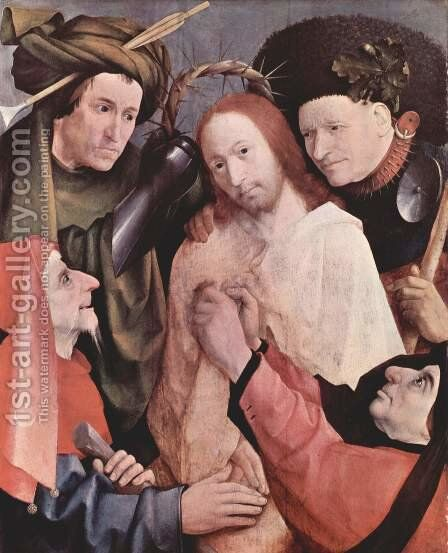 Christ Mocked (Crowning with Thorns) 1495-1500 by Hieronymous Bosch - Reproduction Oil Painting