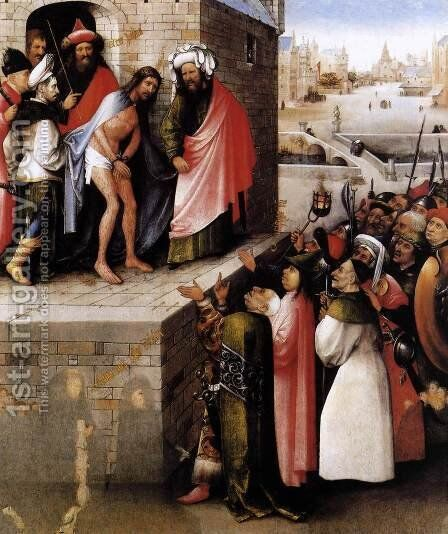 Ecce Homo 1475-80 by Hieronymous Bosch - Reproduction Oil Painting