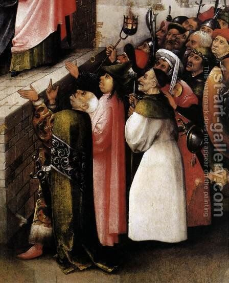 Ecce Homo (detail) 1475-80 by Hieronymous Bosch - Reproduction Oil Painting