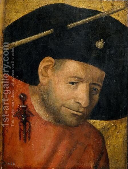 Head of a Halberdier (fragment) by Hieronymous Bosch - Reproduction Oil Painting