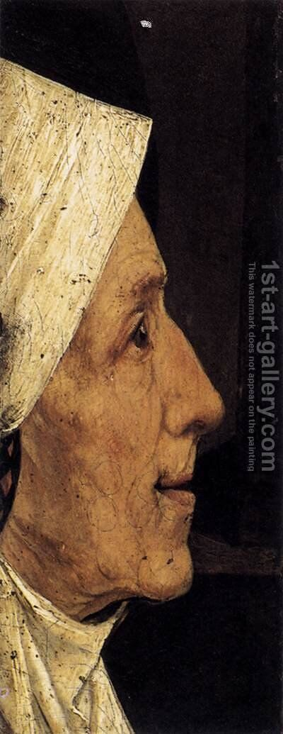 Head of a Woman (fragment) by Hieronymous Bosch - Reproduction Oil Painting