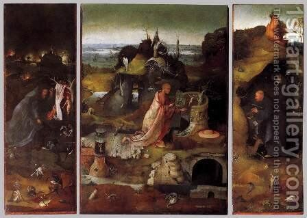 Hermit Saints Triptych c. 1505 by Hieronymous Bosch - Reproduction Oil Painting