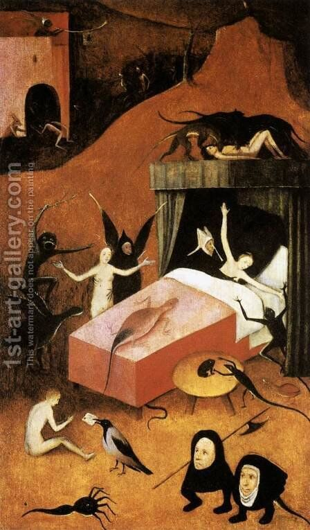Last Judgment (fragment of Hell) by Hieronymous Bosch - Reproduction Oil Painting
