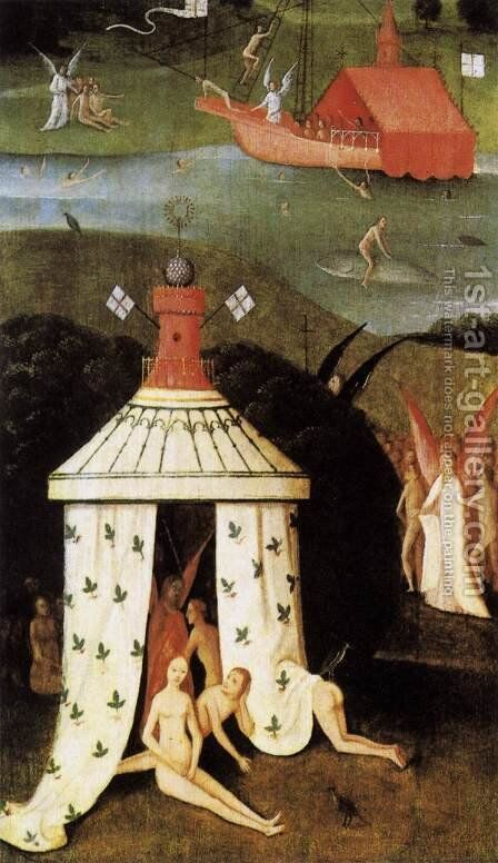 Last Judgment (fragment of Paradise) by Hieronymous Bosch - Reproduction Oil Painting