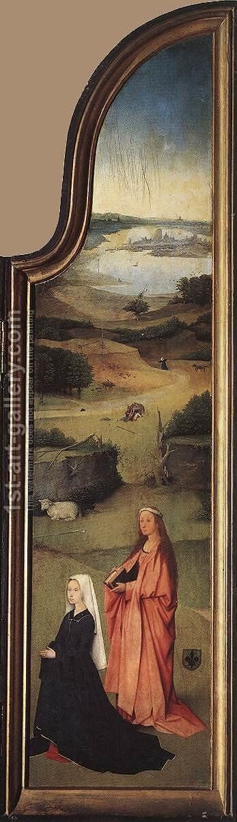 St Peter with the Donor (right wing) c. 1510 by Hieronymous Bosch - Reproduction Oil Painting