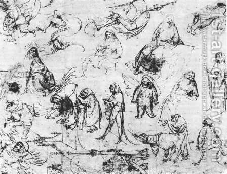 Studies by Hieronymous Bosch - Reproduction Oil Painting