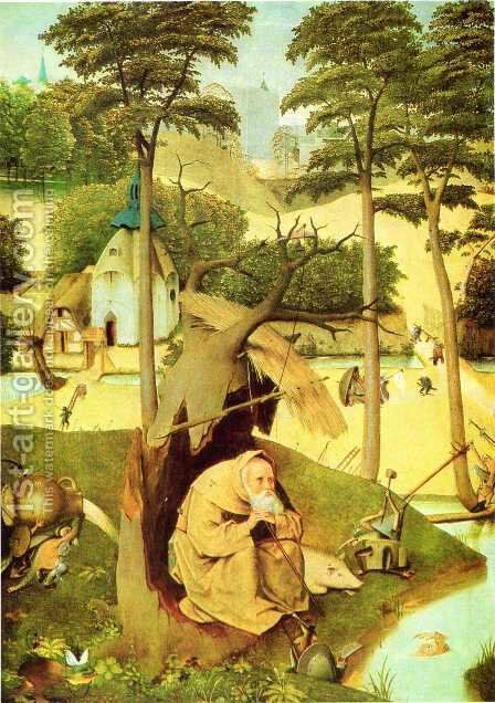 The Temptation of St Anthony by Hieronymous Bosch - Reproduction Oil Painting