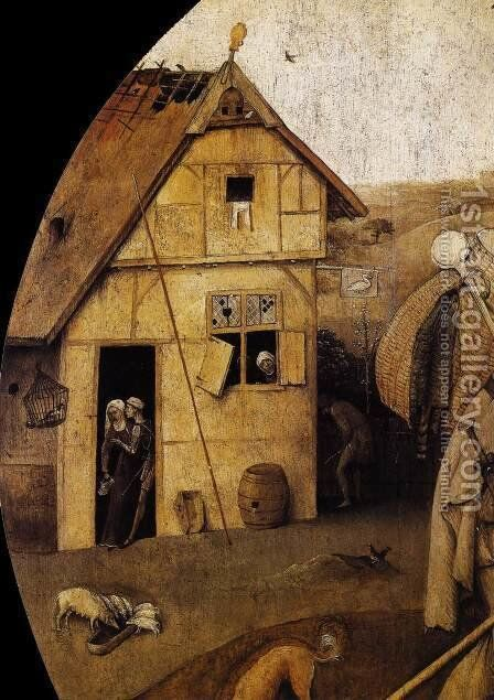 The Wayfarer (detail) by Hieronymous Bosch - Reproduction Oil Painting