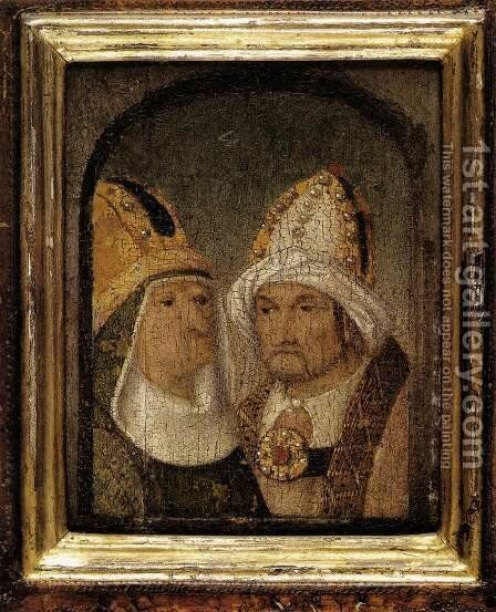 Two Male Heads by Hieronymous Bosch - Reproduction Oil Painting