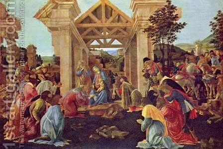 Adoration of the Magi 1481-82 by Sandro Botticelli (Alessandro Filipepi) - Reproduction Oil Painting