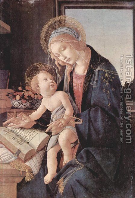 Madonna of the Book (Madonna del Libro) c. 1483 by Sandro Botticelli (Alessandro Filipepi) - Reproduction Oil Painting