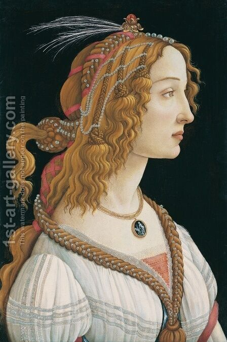Portrait of a Young Woman 1480-85 by Sandro Botticelli (Alessandro Filipepi) - Reproduction Oil Painting