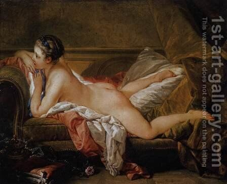 Blond Odalisque (L'Odalisque Blonde) 1752 by François Boucher - Reproduction Oil Painting
