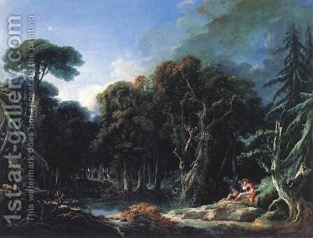 The Forest 1740 by François Boucher - Reproduction Oil Painting