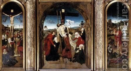 Passion Altarpiece (central) c. 1455 by Dieric the Elder Bouts - Reproduction Oil Painting